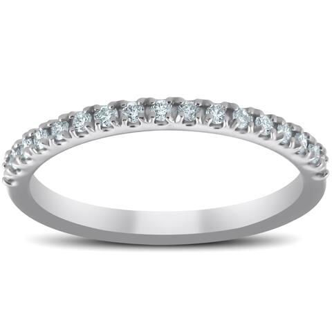 Pompeii3 Platinum 1/3 Ct TDW Diamond Wedding Ring Womens Anniversary Band
