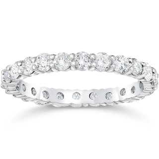 Link to Pompeii3 14k White Gold 2 ct TDW Diamond Eternity Ring Womens Anniversary Stackablee Band Lab Grown Eco Friendly Similar Items in Wedding Rings