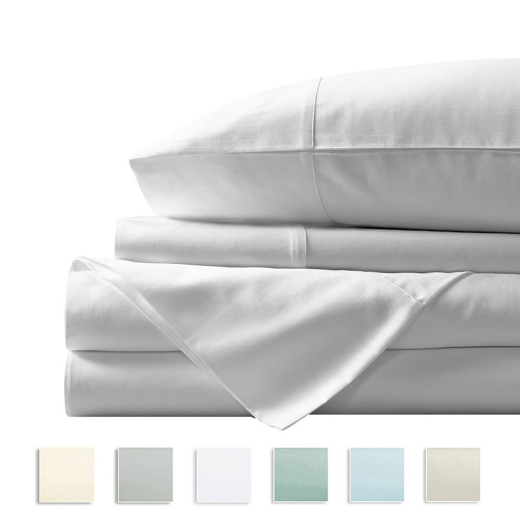 Egyptian Cotton 400 Thread Count Fitted Bed Sheets B/&B Hotel Home