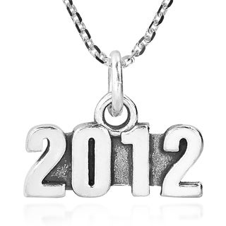 Handmade Year Memory 2012 Tag Sterling Silver Necklace Thailand