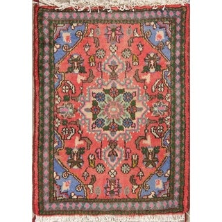 "Hamedan Geometric Hand-Knotted Wool Persian Oriental Area Rug - 2'6"" x 1'10"""