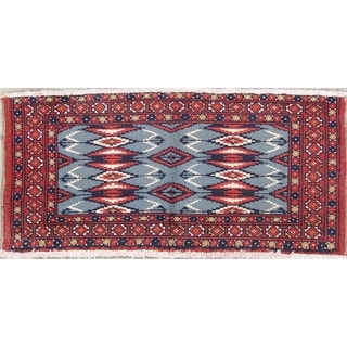 "Balouch Geometric Hand-Knotted Wool Persian Oriental Area Rug - 1'7"" x 3'4"""