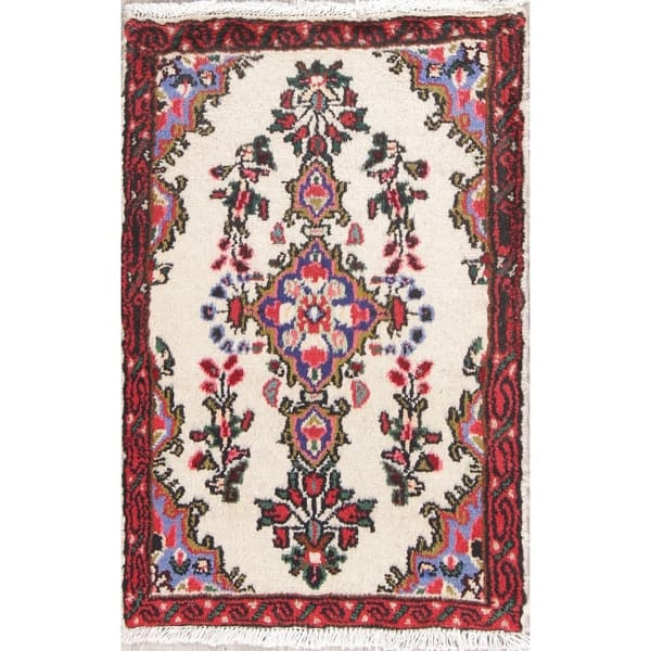 Vintage Lilian Floral Hand Knotted Wool Persian Oriental Area Rug 2 7 X 1 9 On Sale Overstock 27972129
