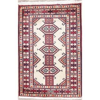 "Bokhara Geometric Hand-Knotted Wool Persian Oriental Area Rug - 2'9"" x 1'11"""