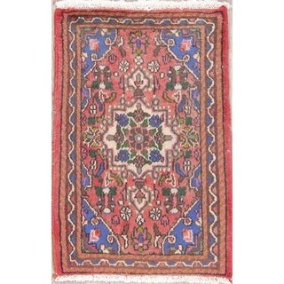 """Hamedan Floral Hand-Knotted Wool Persian Oriental Area Rug - 2'7"""" x 1'9"""""""