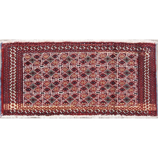 """Balouch Geometric Hand-Knotted Wool Persian Oriental Area Rug - 1'7"""" x 3'5"""""""