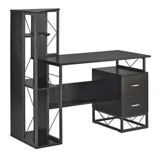 Safco Soho Textured Laminate 2-drawer Pedestal Storage Desk and Shelving Unit