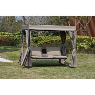 Outdoor Sunbed with Canopy Double Chaise Lounge by Moda Furnishings