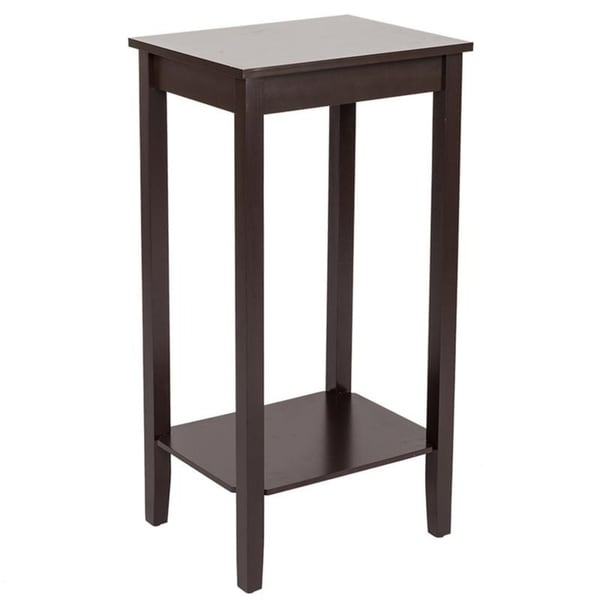 Home Garden Coffee Side Table with Double layer High-footed Coffee