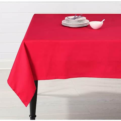 """EnvioHome Cotton Rectangular 60"""" x 85"""" Tablecloth - Red - 60 x 85 inches"""