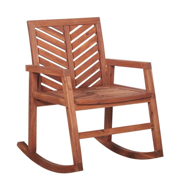 Awesome Shop Outdoor Modern Solid Acacia Wood Chevron Rocking Chair Unemploymentrelief Wooden Chair Designs For Living Room Unemploymentrelieforg