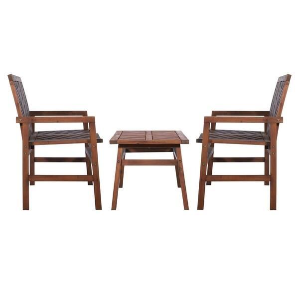 Super Shop 3 Piece Outdoor Solid Acacia Wood Chevron Patio Unemploymentrelief Wooden Chair Designs For Living Room Unemploymentrelieforg