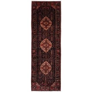 eCarpetGallery  Hand-knotted Koliai Black Wool Rug - 3'6 x 10'9