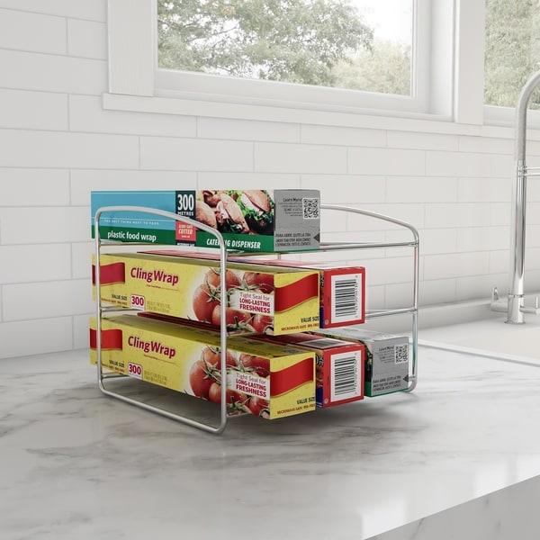 Shop 3 Tier Kitchen Pantry Organizer For Foil, Plastic
