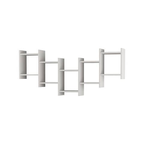 Willett Multi-drawer Open Back Modern Wall Shelf