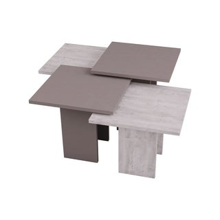 Clark Brown/White Modern Coffee Table