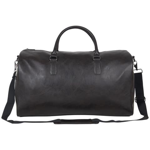 Kenneth Cole Reaction Distressed Echo Collection 20-inch Distressed Faux Leather Single Compartment Carry-On Duffel