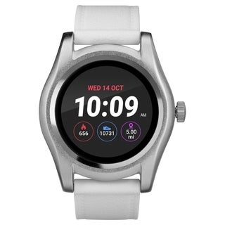 iConnect by Timex TW5M31700 White/Silver Round Touchscreen Watch