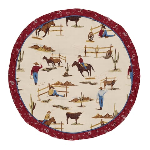Sweet Jojo Designs Tan and Red Cowboy Wild West Collection Baby Tummy Time Playmat