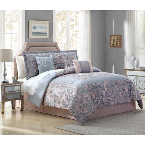 White Birch Faye Paisley 7 Piece Comforter Set