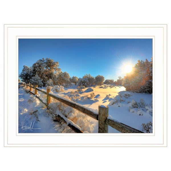 """Snow Covered II"" by Dale MacMillan, Ready to Hang Framed Print, White Frame"
