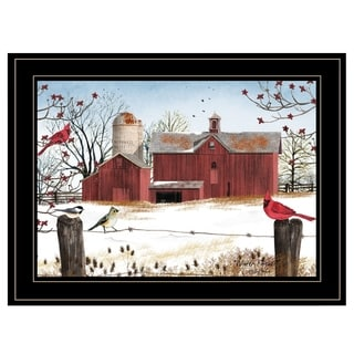 """Winter Friends"" by Billy Jacobs, Ready to Hang Framed Print, Black Frame"