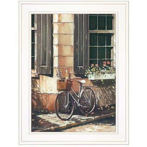 """Picnic Getaway"" by John Rossini, Ready to Hang Framed Print, White Frame"