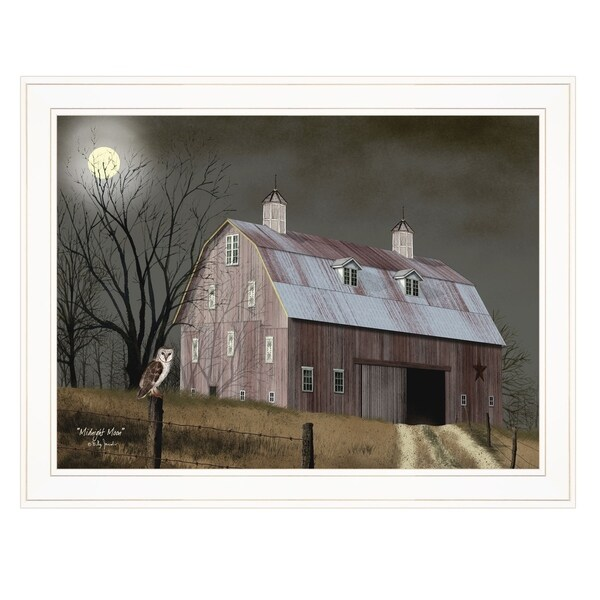 """""""Midnight Moon"""" by Billy Jacobs, Ready to Hang Framed Print, White Frame"""