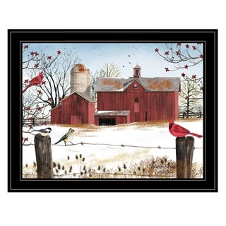 """""""Winter Friends"""" by Billy Jacobs, Ready to Hang Framed Print, Black Frame"""