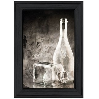 """Moody Gray Glassware Still Life"" by Bluebird Barn, Ready to Hang Framed Print, Black Frame"
