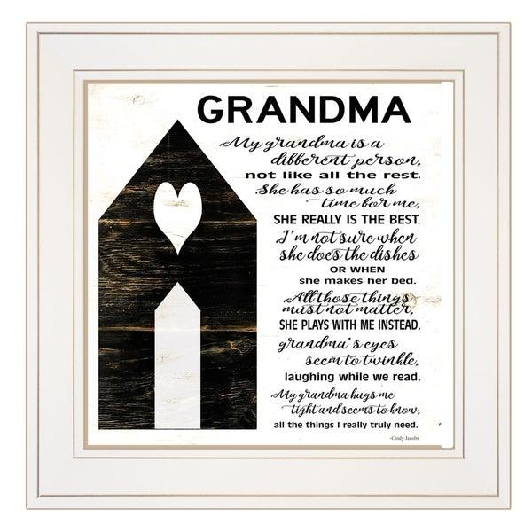 """My Grandma"" by Cindy Jacobs, Ready to Hang Framed Print, White Frame"