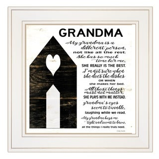 """My Grandma"" by Cindy Jacobs, Ready to Hang Framed Print, White Frame"