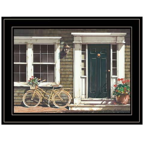 """""""Parked Out Front"""" by John Rossini, Ready to Hang Framed Print, Black Frame"""