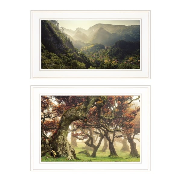 """The Land of Hobbits"" 2-Piece Vignette by Martin Podt, White Frame"