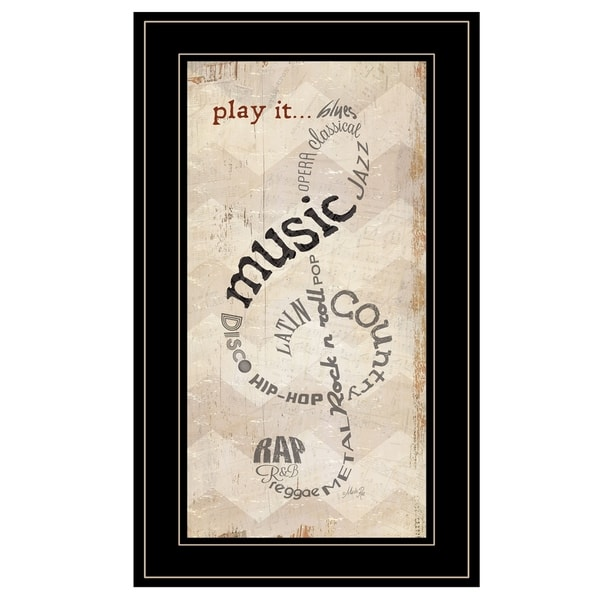 """""""Play It"""" by Marla Rae, Ready to Hang Framed Print, Black Frame"""