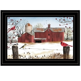 """Winter Days"" by Billy Jacobs, Ready to Hang Framed Print, Black Frame"