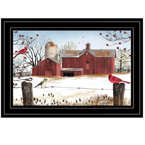 """""""Winter Days"""" by Billy Jacobs, Ready to Hang Framed Print, Black Frame"""