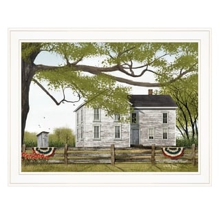 """Sweet Summertime House"" by Billy Jacobs, Ready to Hang Framed Print, White Frame"