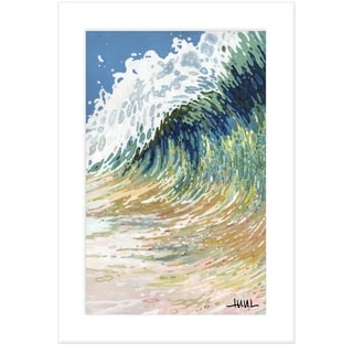 """""""Big Wave"""" by Margaret Juul, Ready to Hang Framed Print, White Frame"""