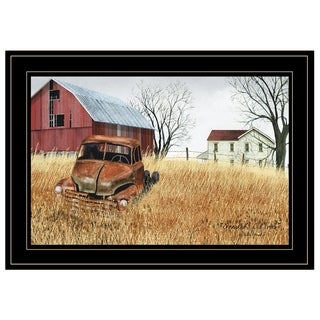 """""""Granddad's Old Truck"""" by Billy Jacobs, Ready to Hang Framed Print, Black Frame"""