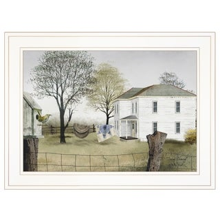 """""""Spring Cleaning"""" by Billy Jacobs, Ready to Hang Framed Print, White Frame"""
