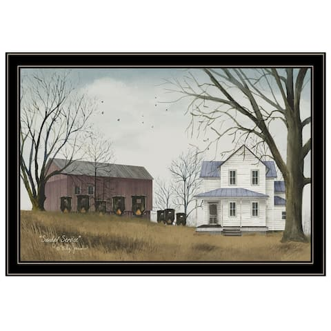 """""""Sunday Service"""" by Billy Jacobs, Ready to Hang Framed Print, Black Frame"""