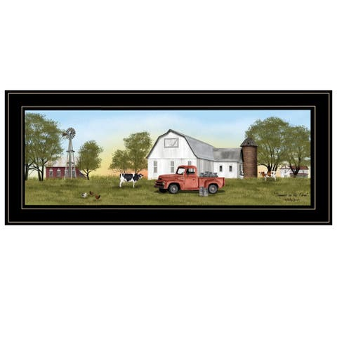 """Summer on the Farm"" by Billy Jacobs, Ready to Hang Framed Print, Black Frame"