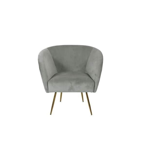 Outstanding Shop Homepop Arra Accent Chair Light Gray Textured Velvet Machost Co Dining Chair Design Ideas Machostcouk