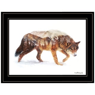 """""""Arctic Wolf"""" by Andreas Lie, Ready to Hang Framed Print, Black Frame"""