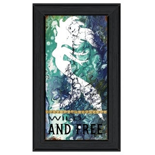 """""""Wild and Free"""" by Cindy Jacobs, Ready to Hang Framed Print, Black Frame"""