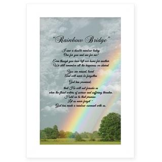 """Rainbow Bridge"" by Trendy Décor 4U, Ready to Hang Framed Print, White Frame"