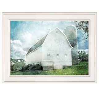 """White Barn"" by Bluebird Barn, Ready to Hang Framed Print, White Frame"