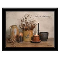 """""""Simple Blessings"""" by Billy Jacobs, Ready to Hang Framed Print, Black Frame"""