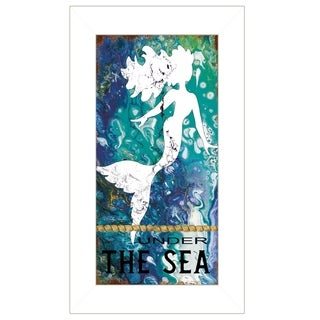 """""""Under the Sea"""" by Cindy Jacobs, Ready to Hang Framed Print, White Frame"""